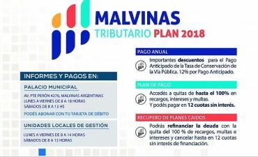 Malvinas Argentinas: Presentaron el Plan tributario 2018 con la posibilidad de abonar en cuotas