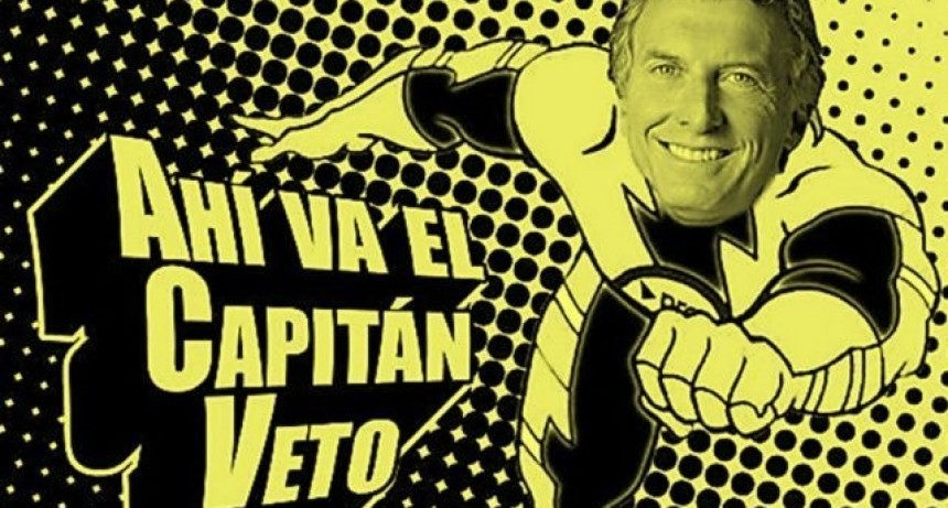 """Tarifazos: Hay viene el Capitán """"Veto"""". Macri ya rechazó varias leyes"""