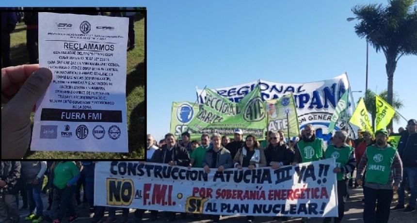 Zárate: Gran movilización gremial contra el desmantelamiento del Plan Nuclear