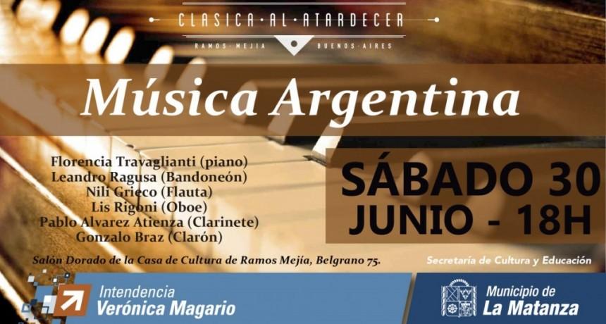 """En Ramos Mejía concierto de piano y música argentina """"Clásica al atardecer"""""""
