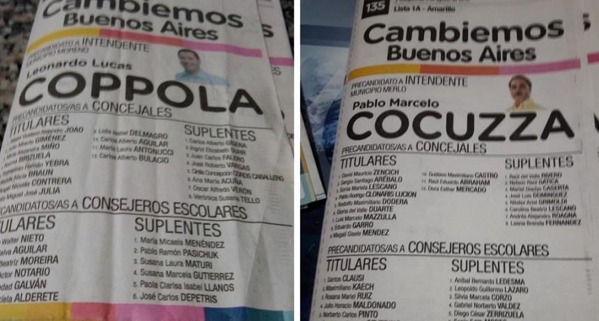 """Merlo y Moreno: Todos los candidatos de Cambiemos """"aportaron"""" efectivo a la campaña"""