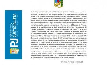 El domingo 17 de diciembre el PJ bonaerense elegirá nuevas autoridades