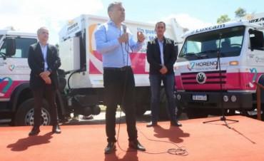 Moreno: Festa presentó siete nuevos camiones para la recolección de residuos