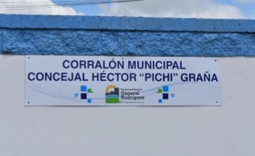 "Gral. Rodríguez: Se impuso el nombre de Héctor ""Pichi"" Graña al corralón municipal"