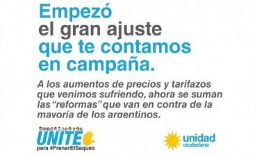 Unidad Ciudadana lanzó campaña con una Web contra las reformas jubilatoria y laboral