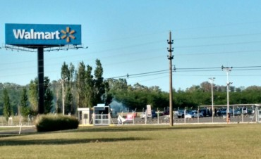 Luján: Intento de saqueo en hipermercado y ´robo´ de mercadería de cuatro camiones