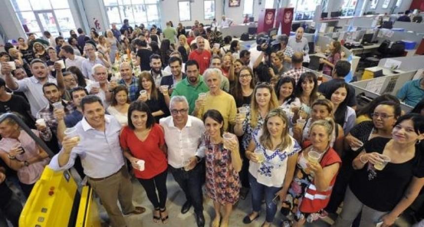Tigre: Zamora saludó por el final de año a empleados municipales