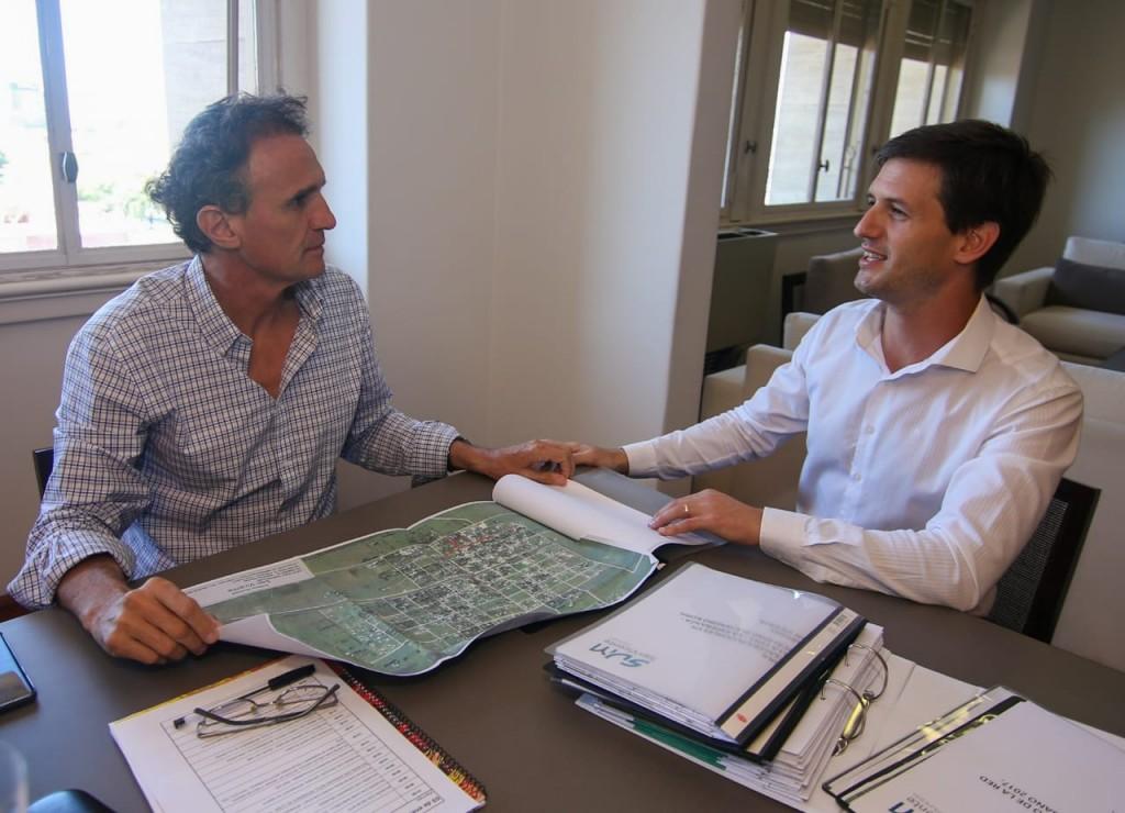 """Mantegazza: """"Me reuní con el ministro Katopodis, para empezar a mejorar la calidad de vida de los sanvicentinos"""""""