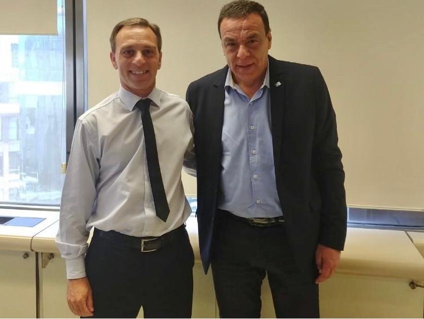Zárate: El intendente Cáffaro recibió al titular de la Agencia de Administración de Bienes del Estado