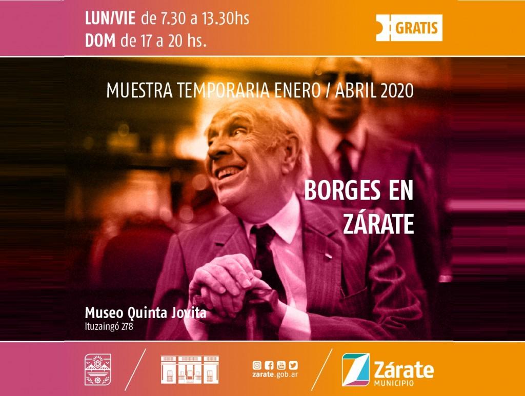 """En la Quinta Jovita se desarrolla la Muestra """"Borges en Zárate"""""""