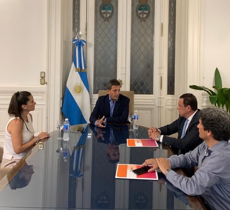 Zárate: El intendente Cáffaro se reunió con Sergio Massa
