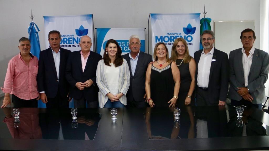 Moreno: La intendenta firmó Convenio con CAME y FEBA para desarrollar el centro comercial
