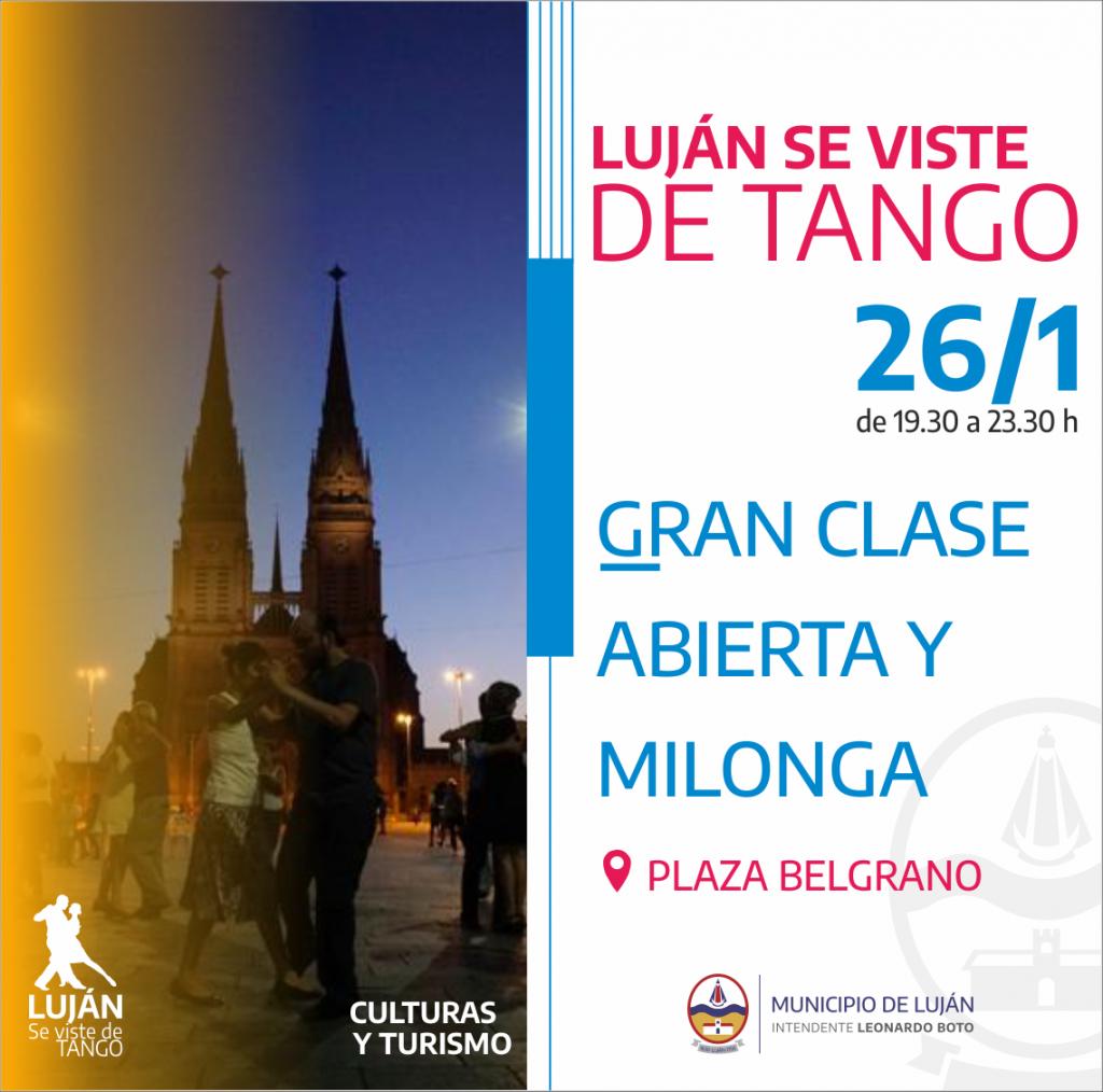 Luján se viste de tango