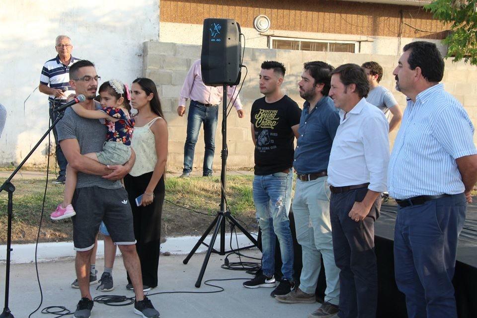 San Miguel: El intendente Méndez inauguró pavimentos en Barrio Sarmiento