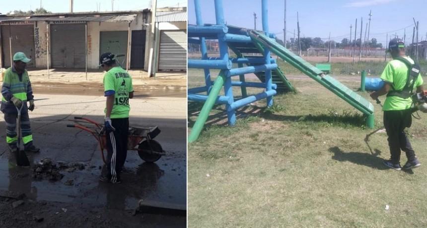 José C. Paz: Continúan los trabajos de limpieza y mejoramiento de espacios públicos