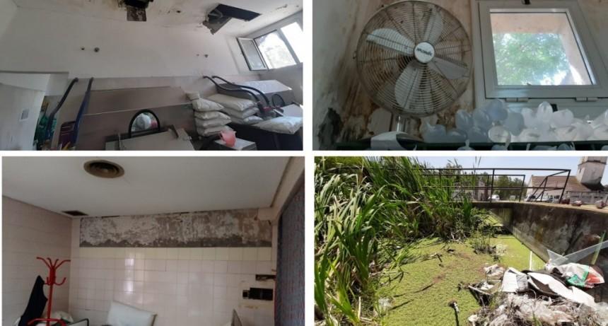 """San Vicente: Mantegazza denunció """"el gran deterioro que presentan las instalaciones de salud del distrito"""""""