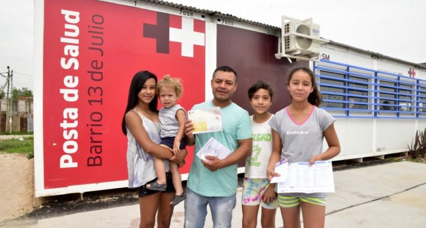 San Martín: Moreira recorrió el nuevo Centro de Salud del Barrio 13 de Julio