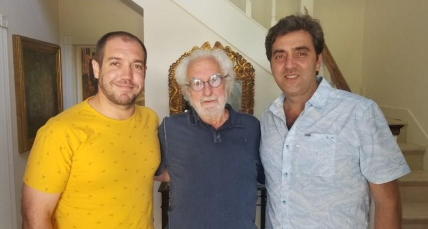 """Luján: Leo Boto se reunió Mario """"Pacho"""" O'Donnell, en la preparación del """"Año Belgraniano"""""""
