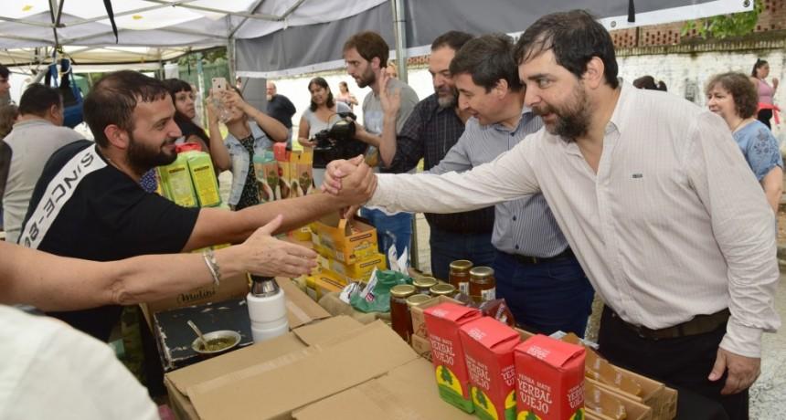 San Martín: Moreira y Arroyo presentaron la Tarjeta AlimentAR
