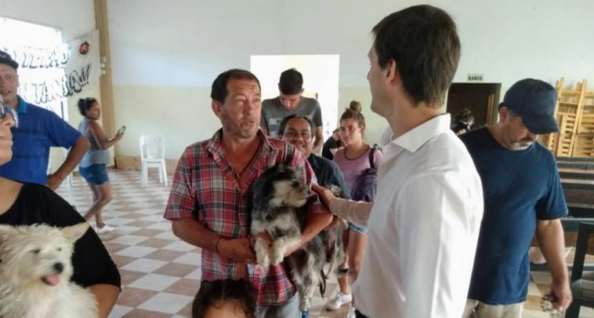 Mantegazza participó en el operativo de castraciones y vacunación en Alejandro Korn