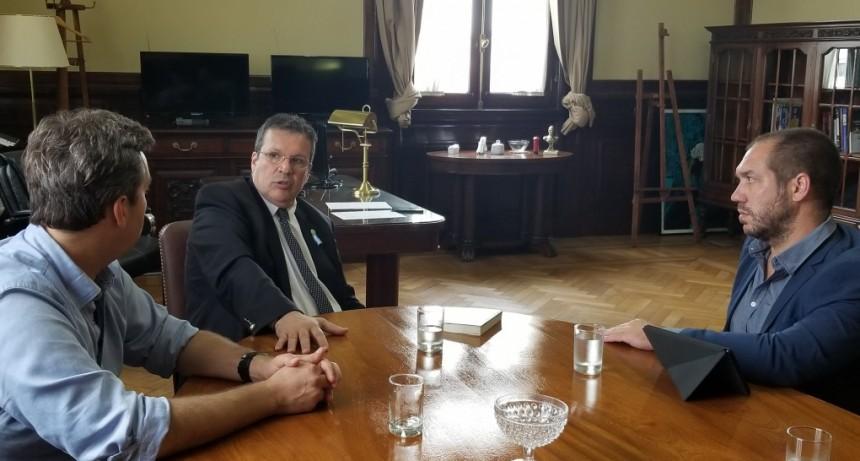 Luján: Leo Boto fue recibido por el Ministro de Cultura, Tristán Bauer