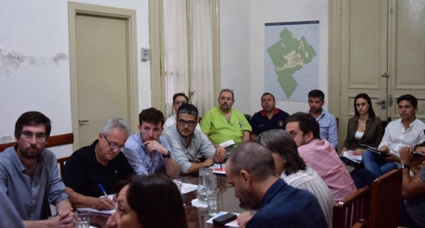 Luján: Leo Boto encabezó la reunión para elaborar el Plan Director de Emergencias