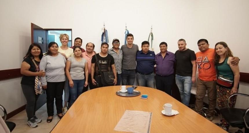 Gral. Rodríguez: Mauro García se reunió con representantes de la comunidad boliviana