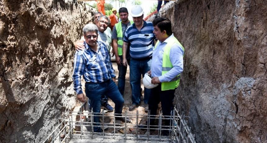 La Matanza: Espinoza inició el mega Plan Hidráulico 20-21