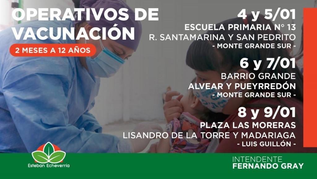 E. Echeverría: El Municipio continúa con la Campaña Nacional de Vacunación