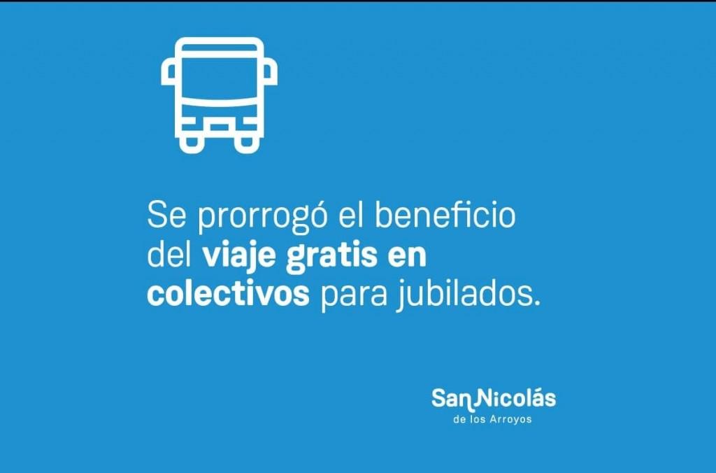 San Nicolás: Se prorrogó el beneficio del viaje gratis en colectivos para jubilados