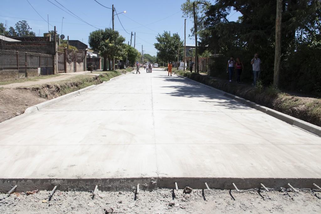 Moreno: Avanza la obra de la calle Portugal