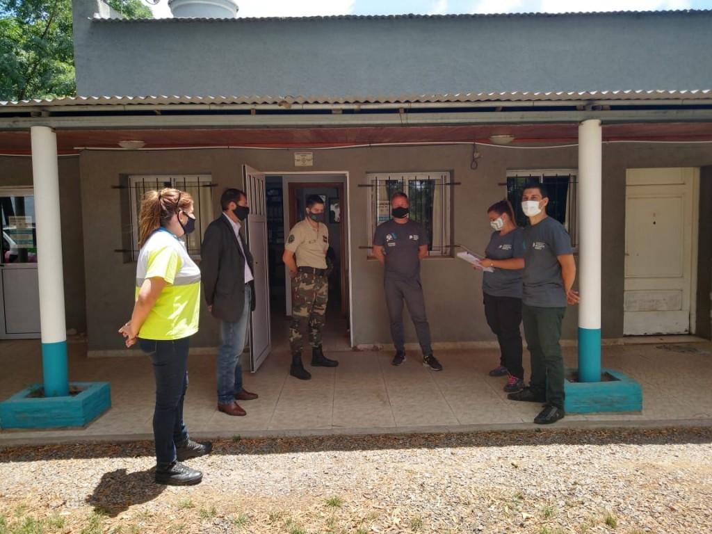 Lezama: Referentes de Defensa Civil visitaron el distrito