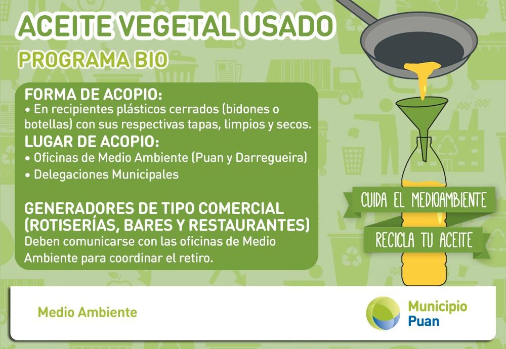 Puan: Campaña de recolección de aceite vegetal usado
