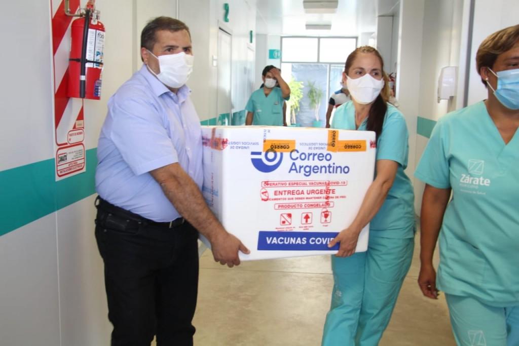 Zárate: El Municipio recibió 450 vacunas contra el COVID-19 que se aplicarán al personal de Salud