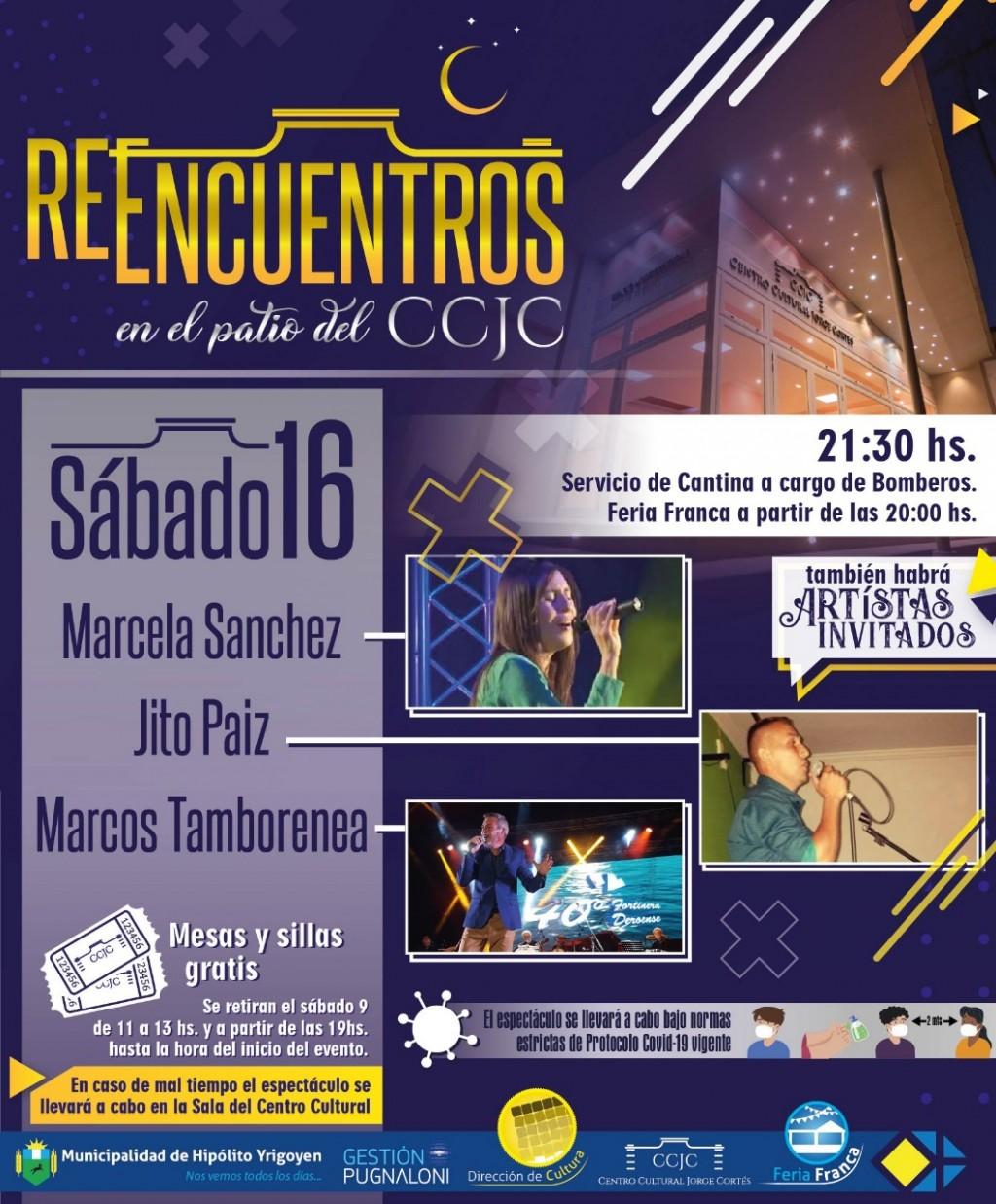 H. Yrigoyen: Sábado de Reencuentros en el patio del Centro Cultural Municipal