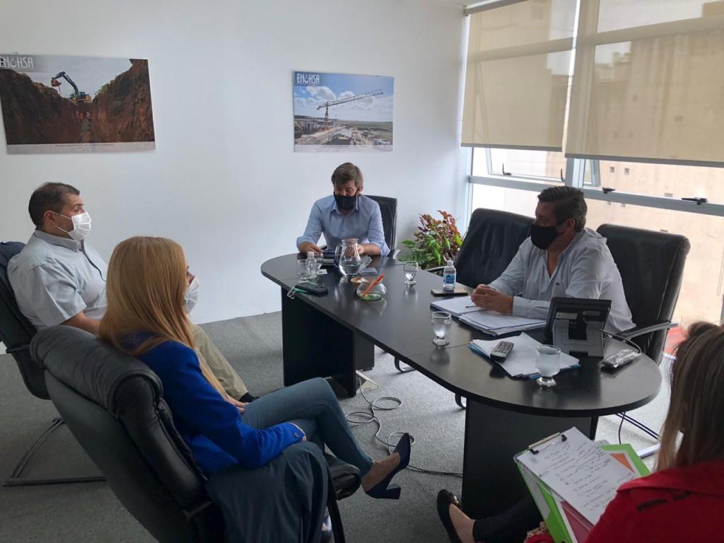 Zárate: Municipio participó de una reunión con directivos del ENOHSA, para mejoras en materia de agua y cloacas