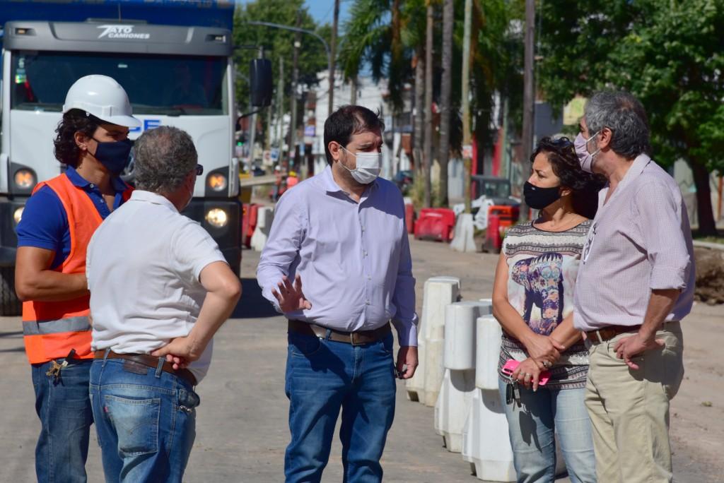 San Martín: Fernando Moreira recorrió las obras de la Av. Illia