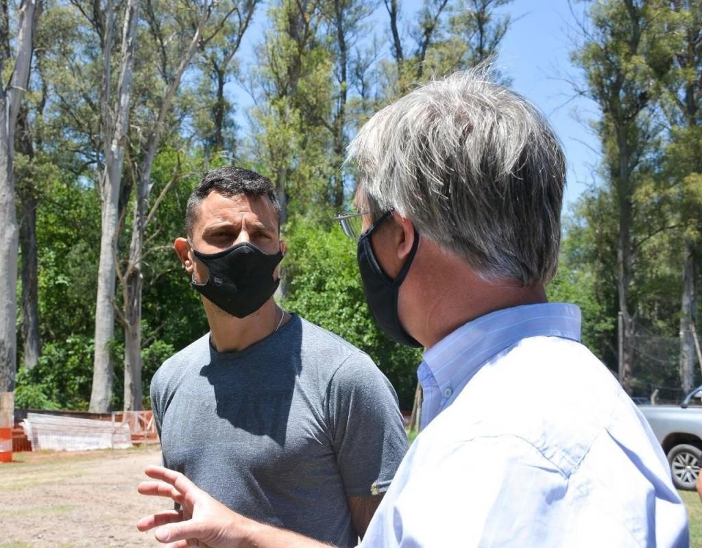 Gral. Rodríguez: Se reactivó la obra de conexión del colector principal de la Red Cloacal