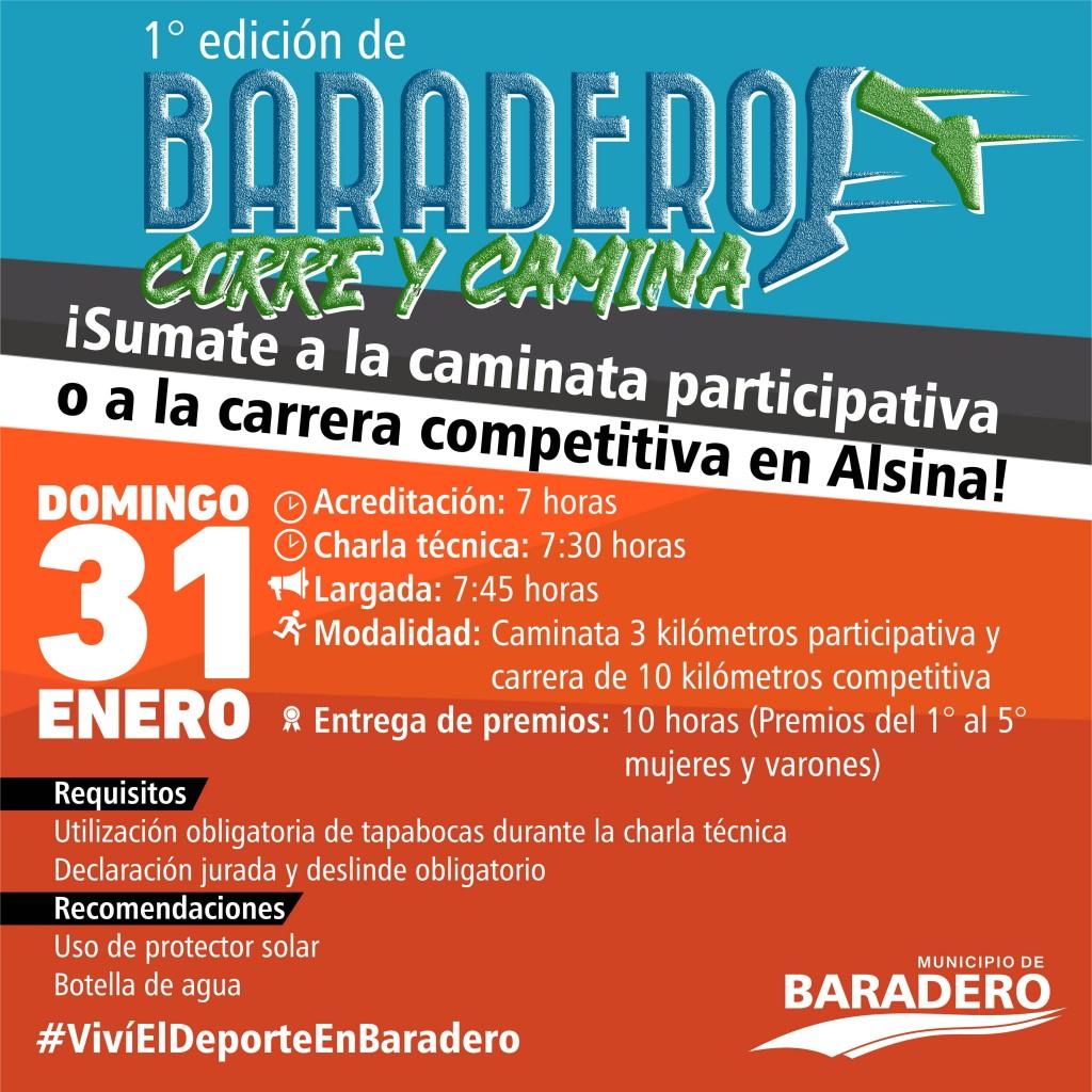 Baradero Corre y Camina: ¡Se viene la primera edición en Alsina!