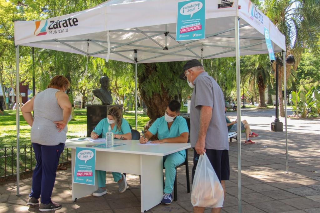 Zárate: El Municipio habilitó puestos de inscripción para la vacunación contra el COVID-19