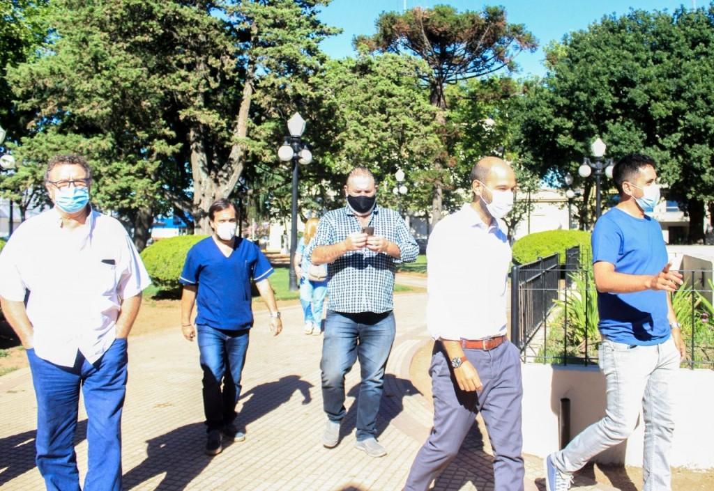 C. de Areco: Reunión con Región Sanitaria IV por campaña de vacunación