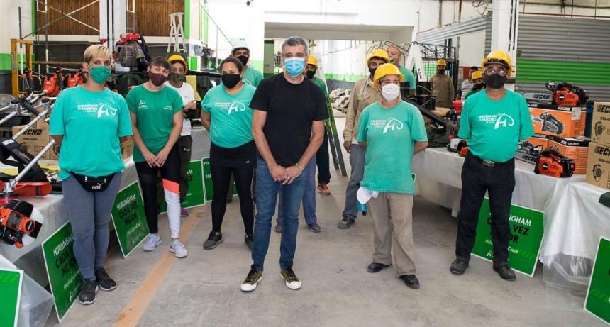 Hurlingham: Zabaleta presentó nuevas herramientas del programa nacional Potenciar Trabajo