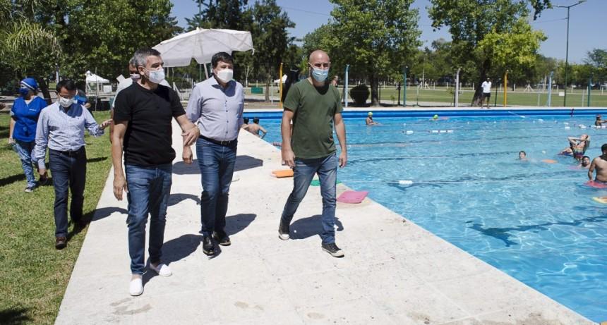 Hurlingham: Zabaleta y Arroyo recorrieron las Escuelas Deportivas Recreativas de Verano del municipio