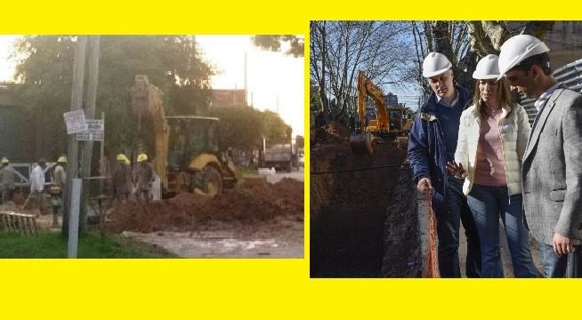 Morón: Tagliaferro pavimenta y luego rompe el asfalto para colocar una cañería subterránea