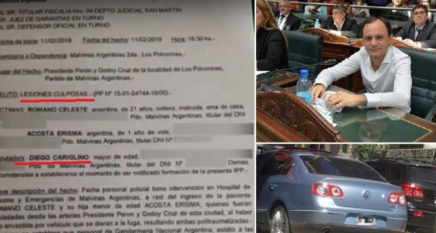 Malvinas Argentinas: El sobrino de Cariglino atropelló a una mujer con su beba y se dio a la fuga
