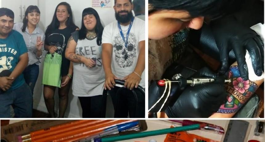 """Moreno: La Juventud del FOP continúa con la campaña """"Un tatoo por útiles escolares"""""""