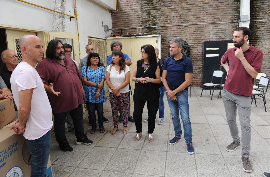 Hurlingham: Zabaleta y Baradel recorrieron obras escolares