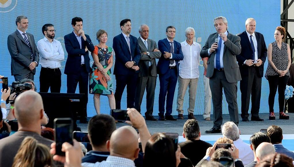 Hurlingham: Alberto acompañó a Zabaleta en la inauguración del nuevo edificio de la UNAHUR