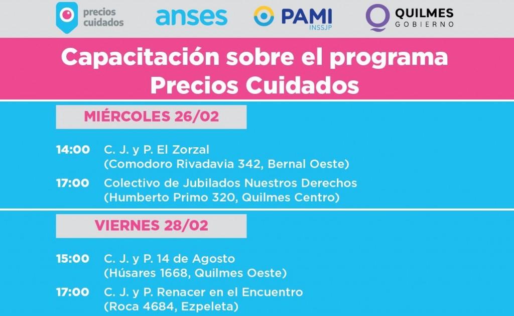 Quilmes: Continúan las capacitaciones para Adultos Mayores del Programa Precios Cuidados