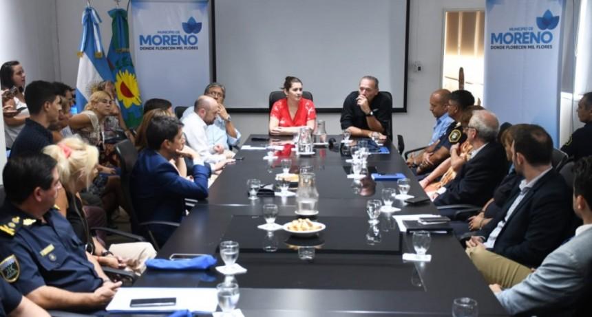 Moreno: Mariel Fernández recibió al Ministro de Seguridad Sergio Berni